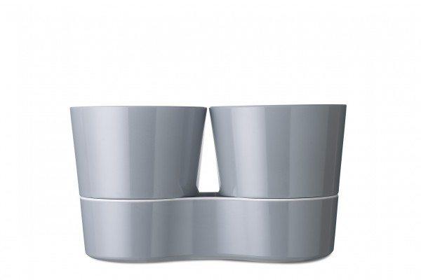 Mepal - Hydro Kräutertopf Twin - Grau
