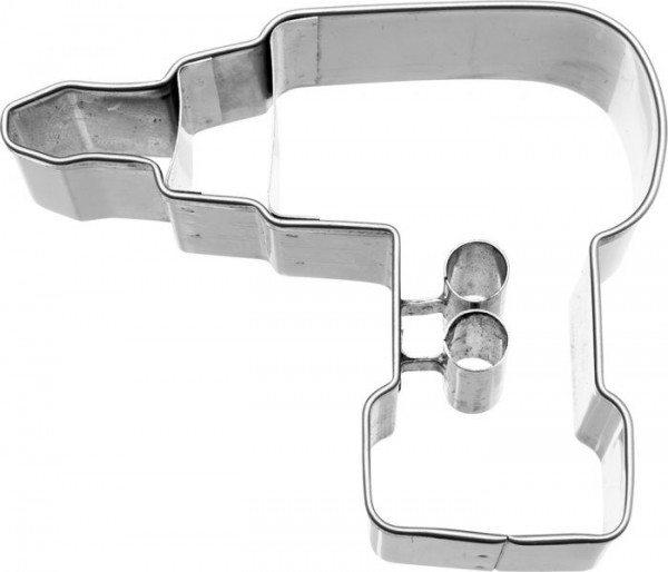 Birkmann - Ausstechform Akkuschrauber, Edelstahl, mit Innenprägung, 6,5 cm