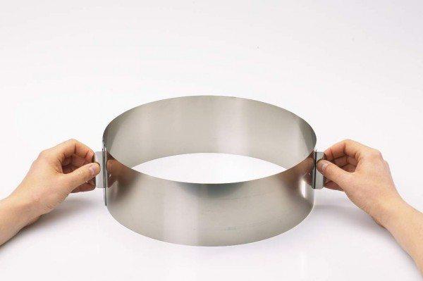 Gefu - Tortenring TONDO XXL mit Verstellgriffen, H 10 cm