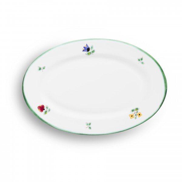 Gmundner Streublumen - Platte oval/ Fahne Gourmet (21x14cm)
