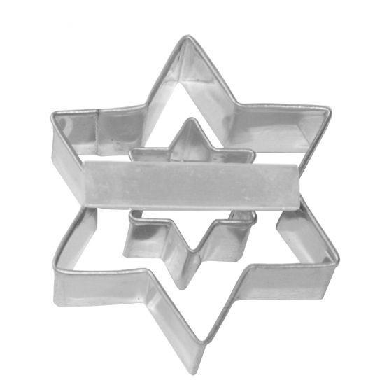 Birkmann - Ausstechform Stern mit Innenstern, Edelstahl, 6 cm