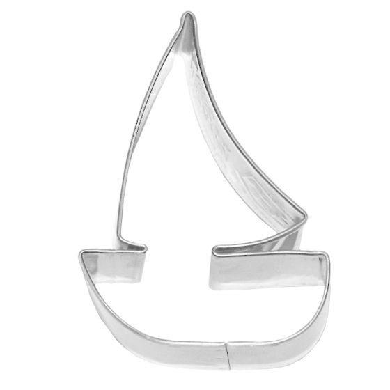 Birkmann - Ausstechform Segelboot, Edelstahl, 7 cm