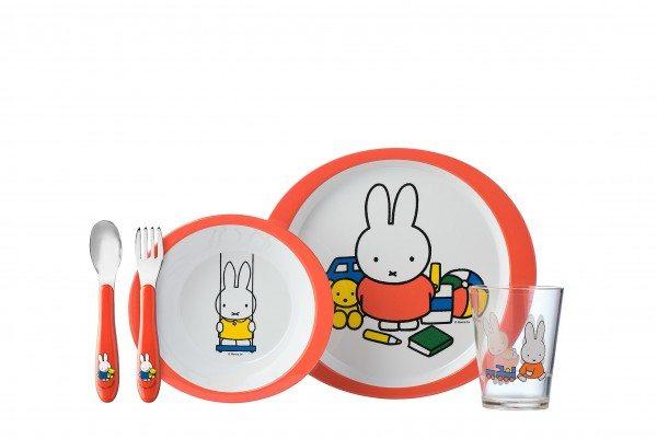 Mepal - Set Kindergeschirr 5-Teilig - Miffy Spielt