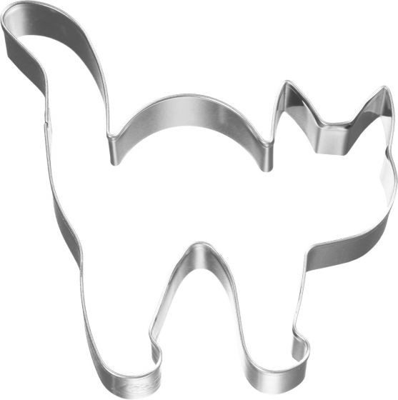 Birkmann - Ausstechform Halloween Katze, Edelstahl, 8 cm