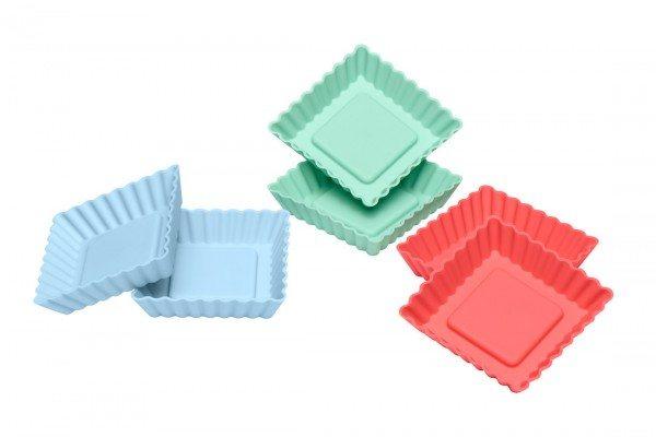 Lurch - Flexiform Tortelett Quader 6er Set Pastel Mix