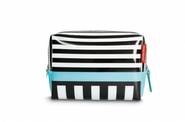Remember - Washbag small 'Black Stripes'