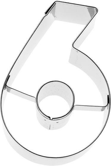 Birkmann - Ausstechform Zahl 6, Edelstahl, 6 cm