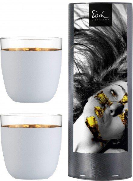 Eisch Cosmo weiss - Champagner-Becher 104/15 - 2 Stück i.Geschenkröhre