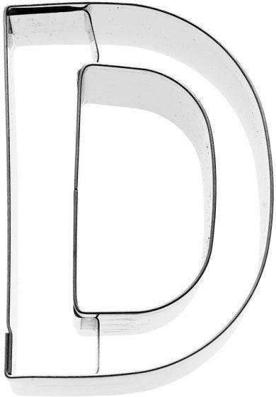 Birkmann - Ausstechform Buchstabe D, Edelstahl, 6 cm