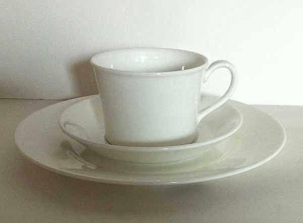 WEDGWOOD White China Tasse mit Untertasse GRAND GOURMET