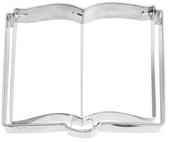 Birkmann - Ausstechform Buch, Edelstahl, mit Inneprägung, 7,5 cm