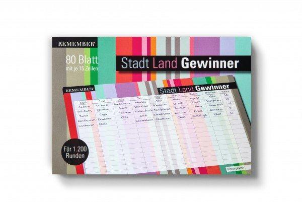 Remember - Stadt Land Gewinner