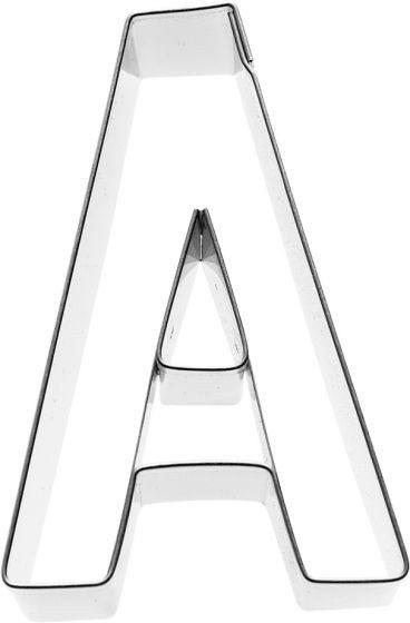 Birkmann - Ausstechform Buchstabe A, Edelstahl, 6 cm