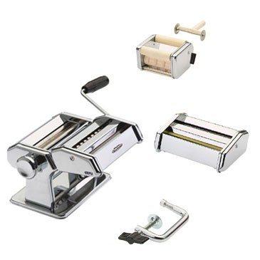 Gefu - Pastamaschine PASTA PERFETTA DE LUXE Set mit Vorsätzen für 6 verschiedene Nudelsorten