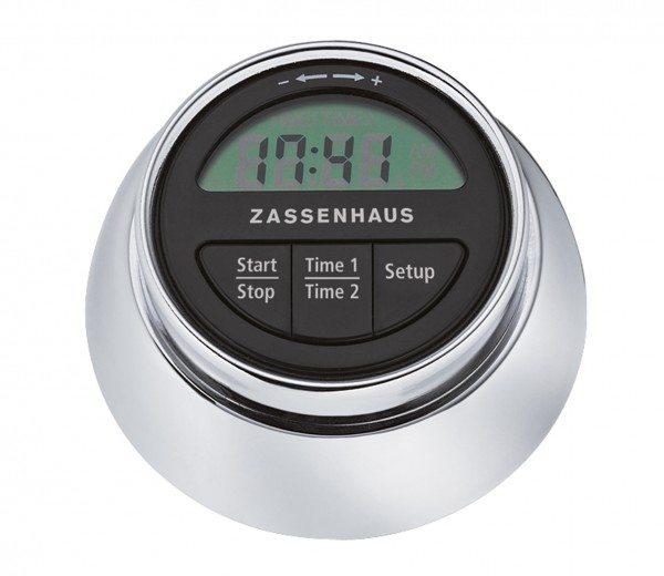 """Zassenhaus - Küchentimer """"Speed"""" digital, chrom"""
