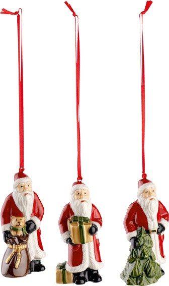 Villeroy&Boch Nostalgic Ornaments - Ornamente Santa Set 3tlg.