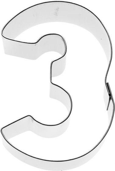 Birkmann - Ausstechform Zahl 3, Edelstahl, 6 cm