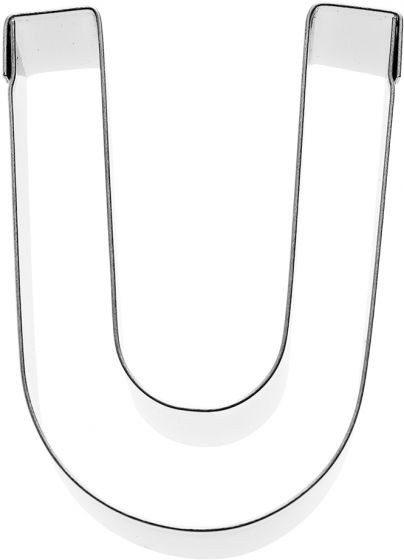 Birkmann - Ausstechform Buchstabe U, Edelstahl, 6 cm