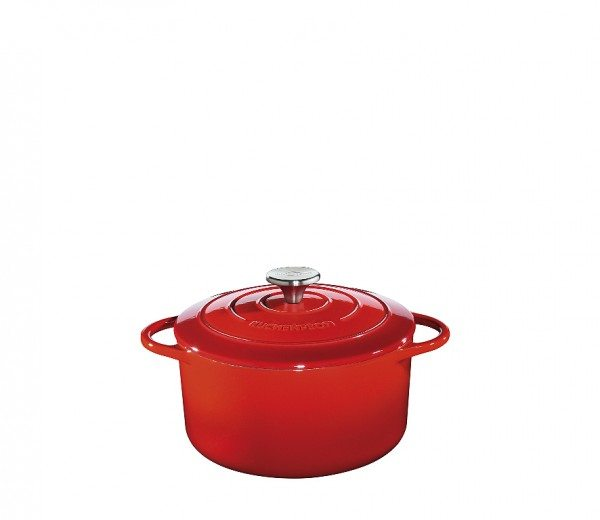 Küchenprofi - Bratentopf rund, 22 cm rot PROVENCE