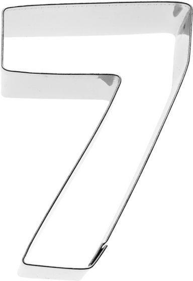 Birkmann - Ausstechform Zahl 7, Edelstahl, 6 cm
