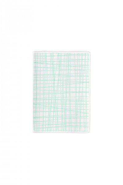 Rosenthal Mesh Line Aqua - Platte flach 18x13cm